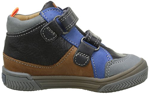 Babybotte Argile 1B4287 - Zapatillas con velcro para niños Gris (160 Gris)