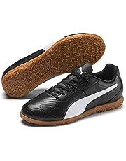 PUMA Monarch IT JR Boys Futsal Shoes, Black White