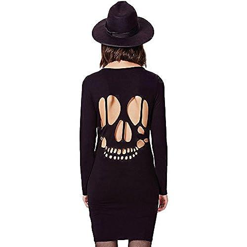 Long sleeve skull dress