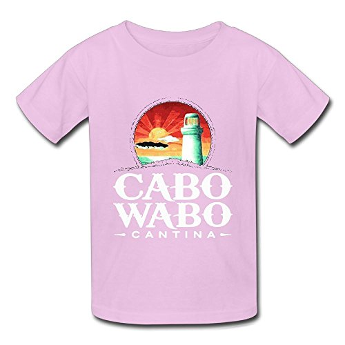 (Oyavdsznq Kid Cabo Wabo Leisure Tennis Pink T-Shirts M Short Sleeve)