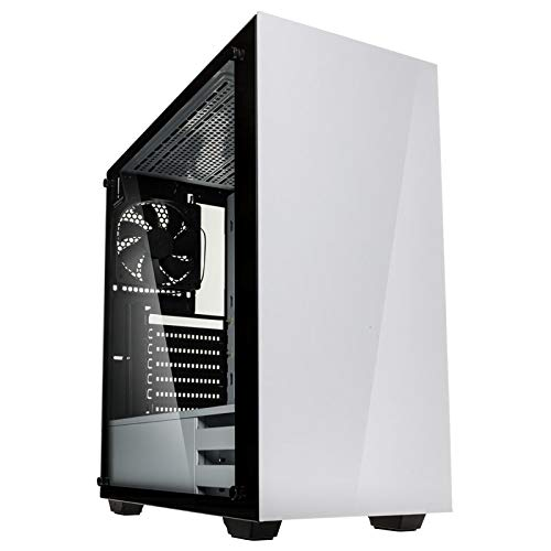 Kolink Stronghold Midi-Tower - PC case - Computer Case - Real Glass Side  Window - White
