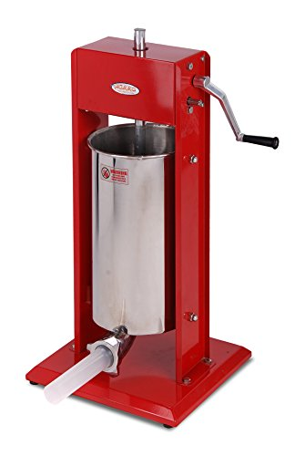 Hakka Sausage Stuffer 11 Lb/5 L Two Fill Rate Spray-painted Steel Vertical 7-11 Lb Sausage Maker