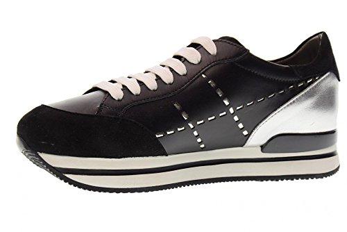 Hogan Kvinder Lave Sneakers Hxw2220k080i6v0353 H222 Sort JA2NHXZQ