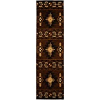 Rugs 4 Less Collection Southwest Native American Indian Runner Area Rug Design Chocolate / Brown 318 (2x7)