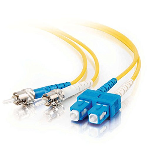 C2G/Cables to Go 37902 SC/ST Plenum-Rated 9/125 Duplex Single-Mode Fiber Patch Cable, Yellow (9.84 Feet/ 3 -