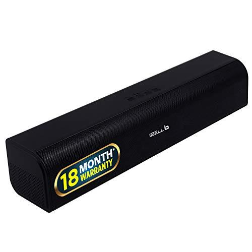 iBELL 20W Soundbar High Performance Audio Speaker System with Bluetooth,USB,TF Card   AUX Connectivity Black