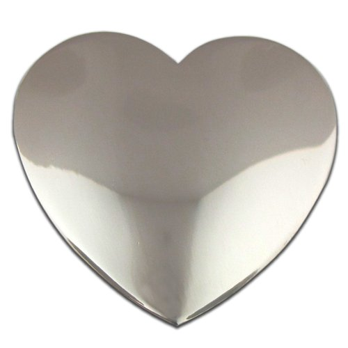 PinMart's Classic Shiny Silver Heart Valentine's Day Lapel Pin by PinMart