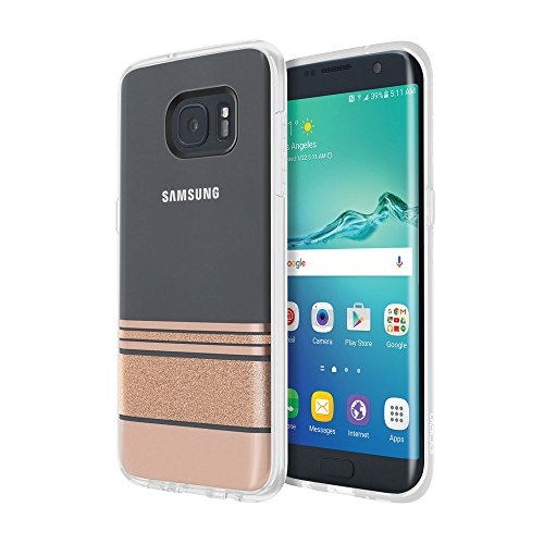 Incipio Carrying Case for Samsung Galaxy S7 Edge - Retail Packaging - Hensley Stripes Rose Gold