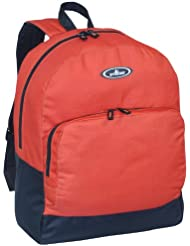 Everest Classic Backpack with Front Organizer, Rustic Orange, One Size