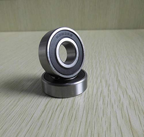 10x30x9 mm 6200-2RS HYBRID CERAMIC Si3N4 Ball Bearings Black 6200RS QTY 2