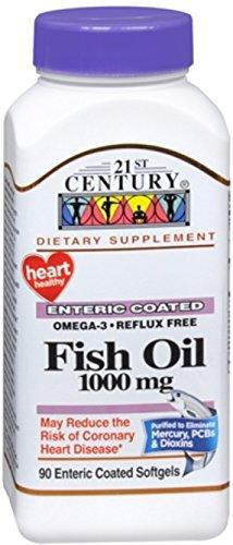 21st Century Omega-3 Fish Oil 1000 mg Softgels 90 Soft Gels (Pack of 2)