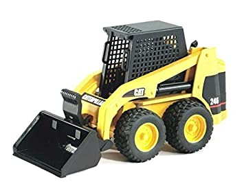 Bruder Caterpillar Skid Steer Loader Dump Truck Toy Metal Sand Dirt