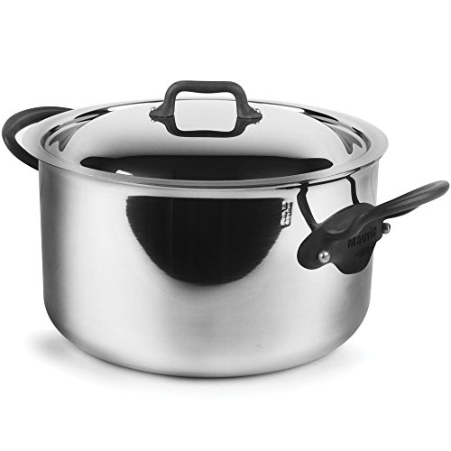Mauviel M'Cook Pro 5-ply Stainless Steel 6.4-quart Stock P