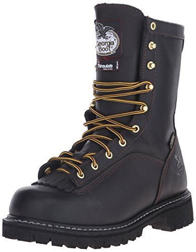 Georgia G8040 Mid Calf Boot, Black, 12 W US (Insulated Georgia Boots)