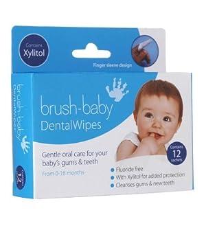 Brush-Baby DentalWipes (Finger Sleeve Type) Pack of 2 by Brush-Baby