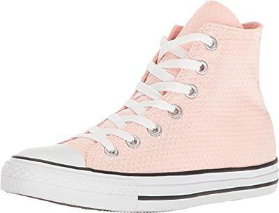 Converse Unisex Chuck Taylor All Star Hi Top (9.5 B(M) US, White/Vapor Pink/White)