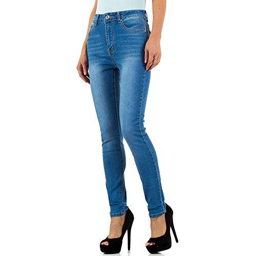 Used Look High Waist Skinny Jeans Für Damen bei Ital-Design Blau jph8LH68u4