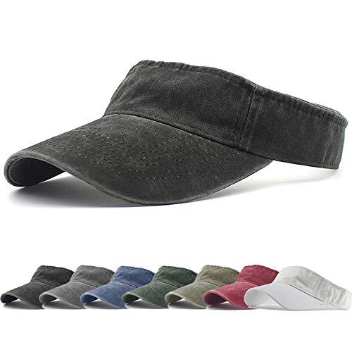 HH HOFNEN Sports Sun Visor Hats Twill Cotton Ball Caps for Men Women Adults - Cotton Visor Twill