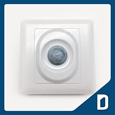 Automatic Wall Motion Sensor for LED Light - DC 12V - 24V - Detector Module - Infrared Detection - Inductor - Activity Indicator - PIR / PID Based Motion Detectors - Security Cameras Bathrooms Hallways Garden Building