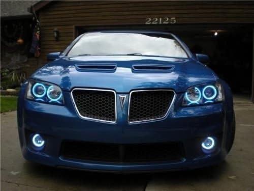 amazon com 2008 2009 pontiac g8 white angel eye fog lamps halo driving lights kit automotive 2008 2009 pontiac g8 white angel eye fog lamps halo driving lights kit
