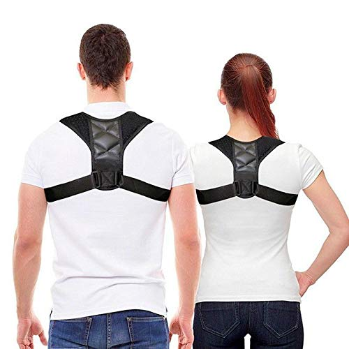 Mespirit Posture Corrector for Men and Women - Comfortable Upper Back Brace Clavicle Support Device for Thoracic Kyphosis and Shoulder - Neck Pain Relief
