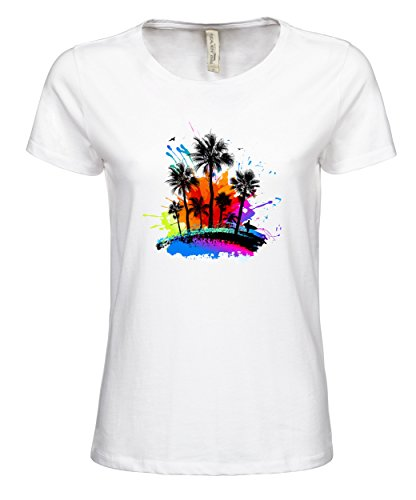 makato Damen TShirt Luxury Tee mit Motiv Hawaii White jn5ooYG9 ...