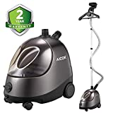 AICOK Steamer for Clothes, Large Transparent Water Tank, Drain Design Standing Steamer, Professional Full Size Heavy Duty Garment Steamer, with Fabric Brush/Garment Hanger/Anti-Scalding