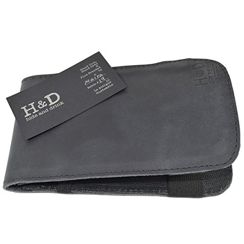 Rustic Leather & Waxed Canvas Golf Performance Scorecard Holder Handmade by Hide & Drink :: Charcoal Black by Hide & Drink (Image #3)