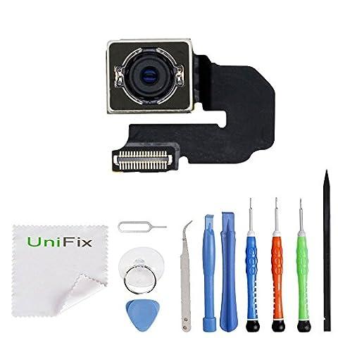 Unifix Back Rear Main Camera Ribbon Cable Replacement Part for iPhone 6S Plus 5.5 + Repair Tool Kit (High Megapixel Phone)