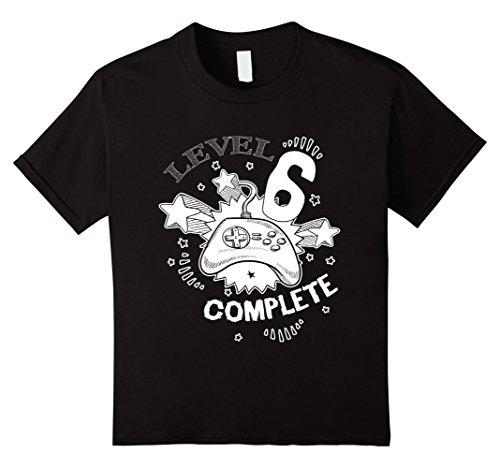 Kids Level 6 Complete Gamer T-Shirt 6 Black