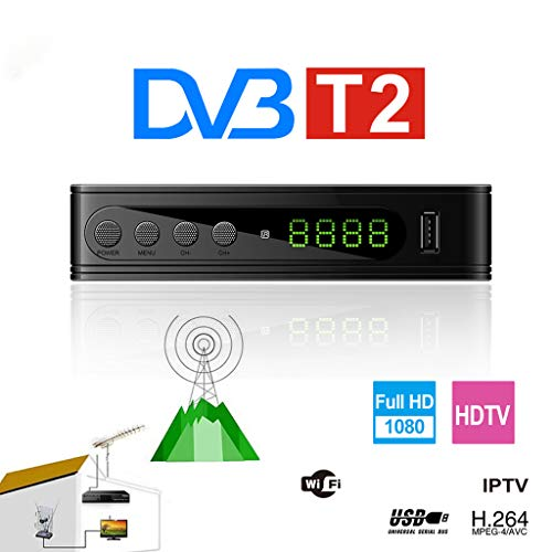 - JUNESUN 1Set New DVB-T2 115 Mini Full HD Digital TV Set Top Box EU Plug Satellite Television Box TV Receiver