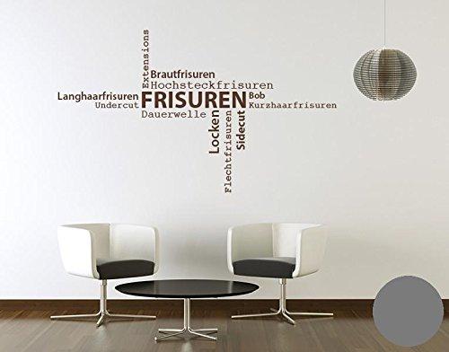 Klebefieber Wandtattoo Wandtattoo Wandtattoo Frisuren B x H  130cm x 76cm Farbe  Dunkelgrau B072BJCQHQ Wandtattoos & Wandbilder 85ef3c