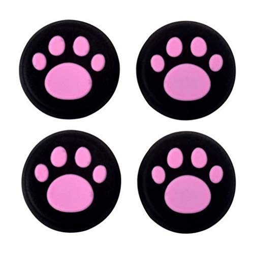Silicone Thumb Stick Grip Cap Joystick Thumbsticks Caps Cover for PS4 PS3 Xbox One PS2 Xbox 360 Game Controllers (Pink Cat Dog Paw 4PCS)