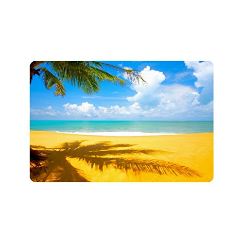 Tropical-Beach-Palm-Tree-Yellow-Sand-Durable-IndoorOutdoor-Doormats-236L-x-157W-316-Thickness