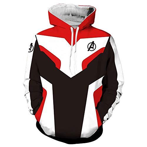 SevenJuly123 Superhero Adult Unisex Hoodie Pullover/Zip up Jacket Casual Coat Cosplay Costume ()
