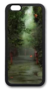 Alley in the forest TPU Silicone Case Cover for iphone 6 plus 5.5 inch Black in GUO Shop