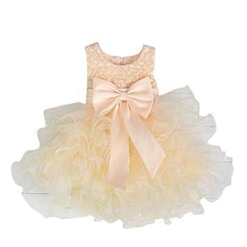 1075e70e5c358  子供ドレス部屋  ボリュームドレス ベージュ キッズドレス ベビードレス プリンセス 結婚式 発表