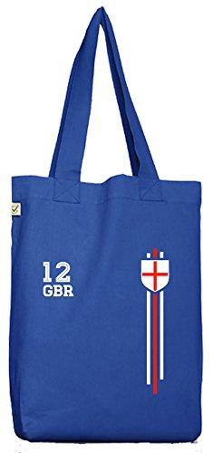 ShirtStreet Great Britain Soccer World Cup Fussball WM Fanfest Gruppen Bio Baumwoll Jutebeutel Stoffbeutel Streifen Trikot England Bright Blue iEJvnCK