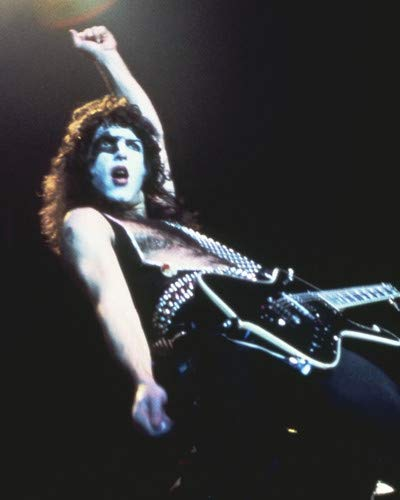 (KISS Paul Stanley classic make up on stage concert 11x14 Promotional Photograph )