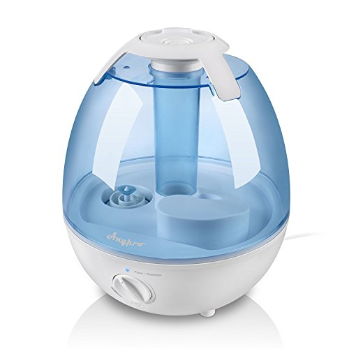 Ultrasonic Cool Mist Humidifier – Anypro Mist Humidifiers for Bedroom Ultra Quiet Air Humidifiers with 6 Optional Night Lights Multi Mist Modes Cool Mist Humidifiers for Baby Home, Filter Free, 3.5L