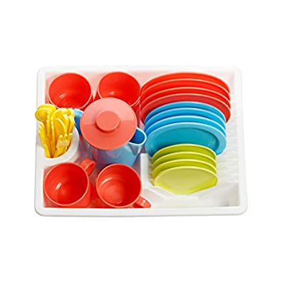 Playkidz Super Durable 31 Piece Kids Dishes Playset Pretend Play House: Toys & Games