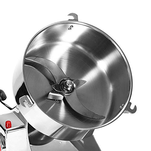 Happybuy Electric Grain Grinder 2000g Pulverizer Grinding Machine 4000W Mill Grinder Powder Machine 50-300 Mesh Food Grade Stainless Steel Swing Type Grain Grinder Mill for Kitchen Herb Spice Pepper Coffee by Happybuy (Image #2)