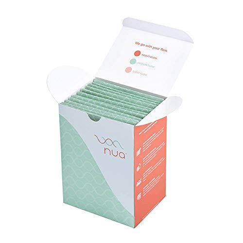 Nua Ultra Thin Rash Free Sanitary Pads -Large Pads with Disposal Cover || Medium Flow || Wider Back Design || Zero…