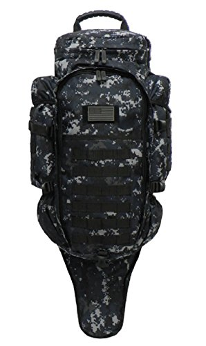 East West U.S.A RT538/RTC538 Tactical Molle Military Assault Rucksacks Backpack, Navy ACU (Heavy Duty Bug Out Bag)