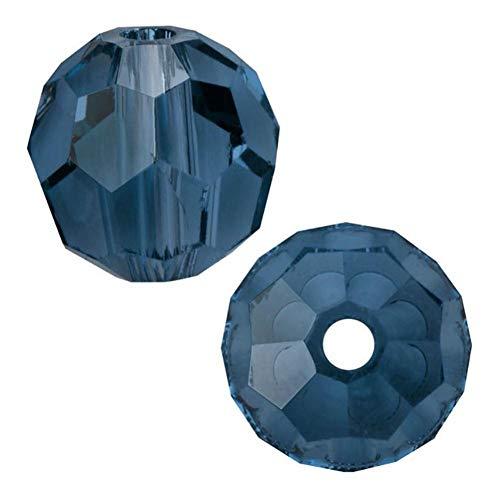 (100pcs 8mm Adabele Austrian Round Crystal Beads Dark Indigo Compatible with 5000 Swarovski Crystals Preciosa SS2R-820)