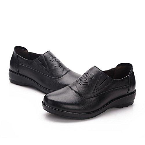 Zapatos de zapatos antideslizantes suaves/ plano con zapatos de boca profunda A