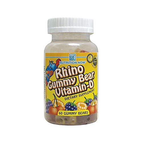 Rhino Gummy Vitamin - Nutrition Now Rhino Gummy Vitamin D3, 60 Count