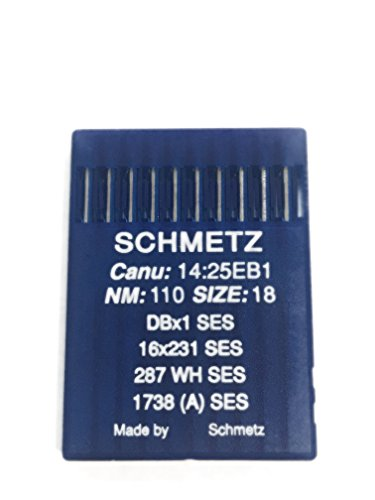 - Schmetz Industrial Sewing Machine Ball Point Needles (SIZE 18) — Designed for Sewing On Knits - For Straight Stitch/Single Needle Industrial Sewing Machines Pack of 10 Needles