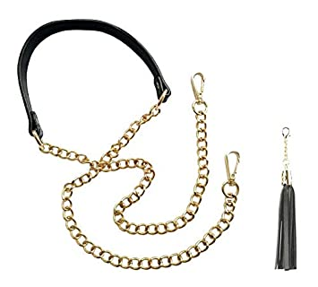 nouvelle collection 25fde 7c1a1 BEAULEGAN Sangle en cuir et chaîne – Remplacement pour sac à main/sac en  bandoulière, réglable, 130 cm de long et 2 cm de large (Doré et Argenté)