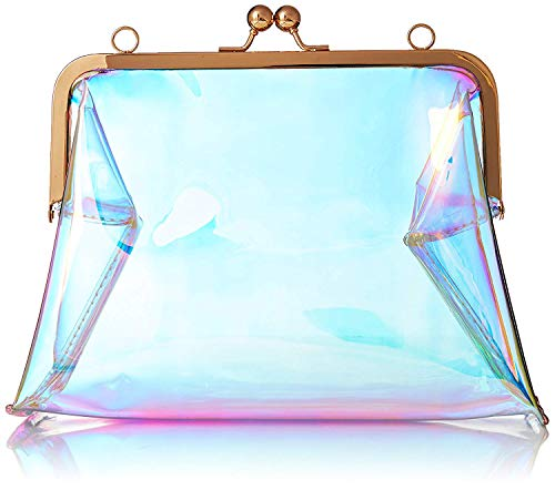 Bag Bags Shoulder Transparent Removable Crossbody Clutch Women Blue PVC Bag Chain with Clear wnxY4anqB1
